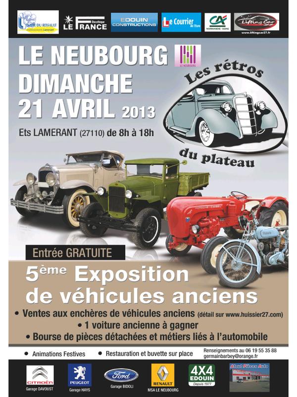 Exposition véhicules anciens et agricoles du Neubourg